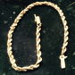 K stamped yellow gold rope bracelet
