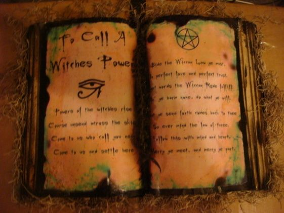 Old Witch Spell Printable Witches Spell Book