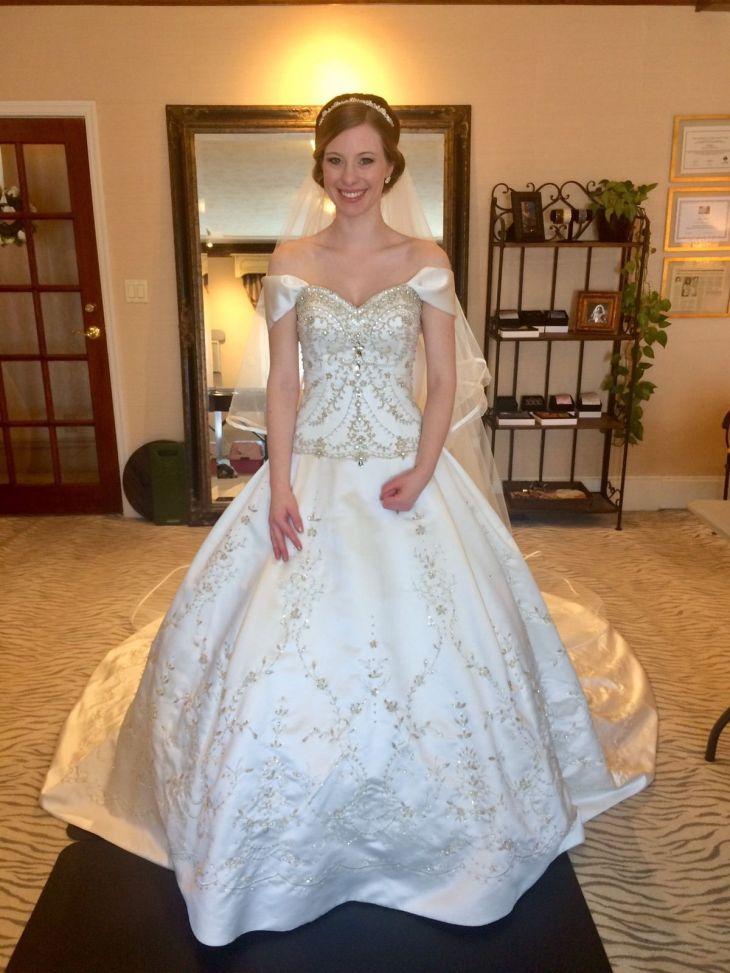 Nice Amazing New Princess Ball Gown Beaded Wedding Dress Chapel long