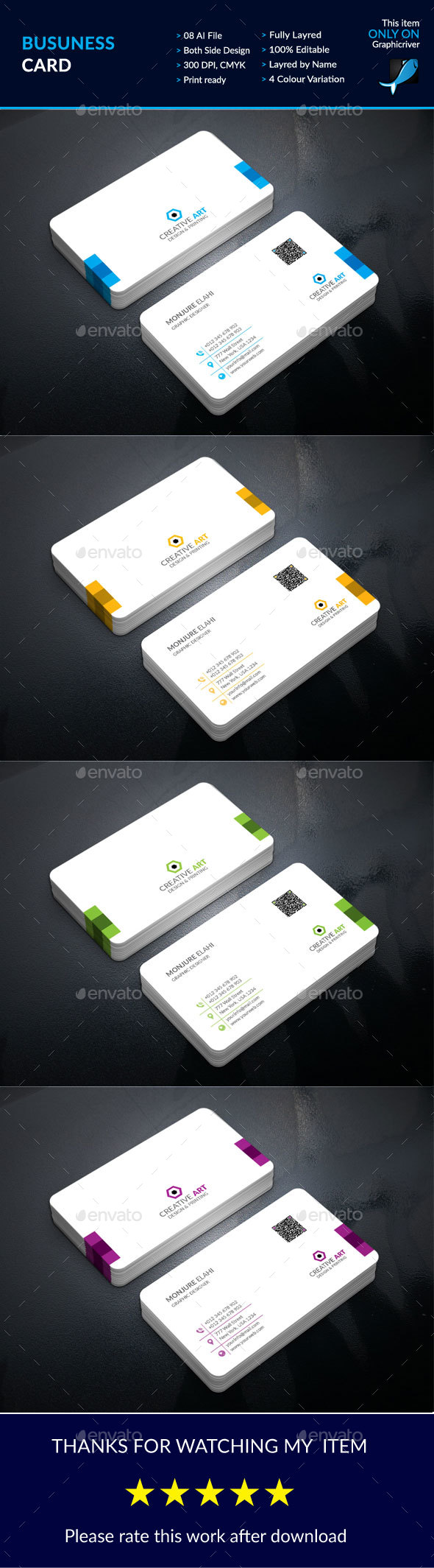 Corporate Business Card Design Template   Business Cards Print     Buy Business Card by on GraphicRiver  This is Business Card design  which  is 300 dpi print ready cmyk AI files