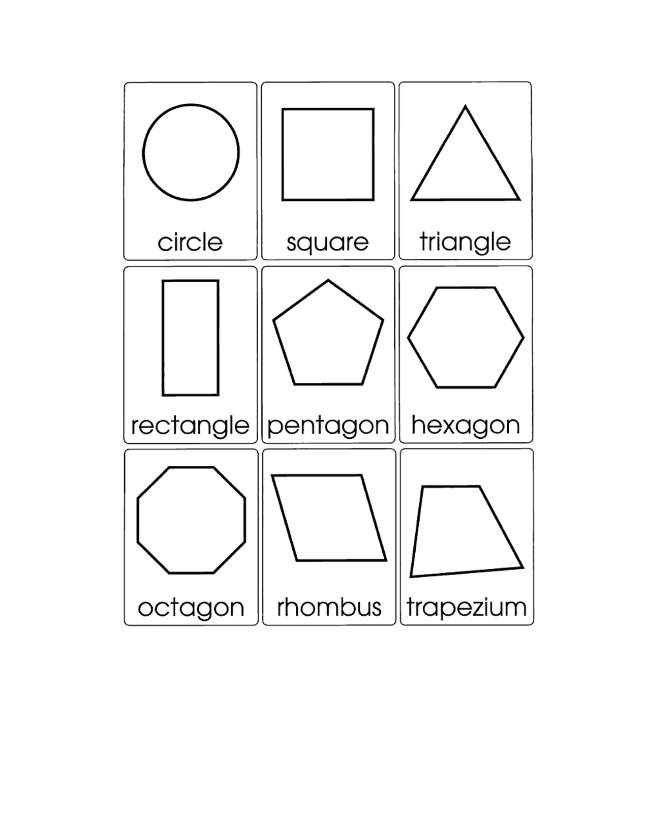 2d Shape Cards