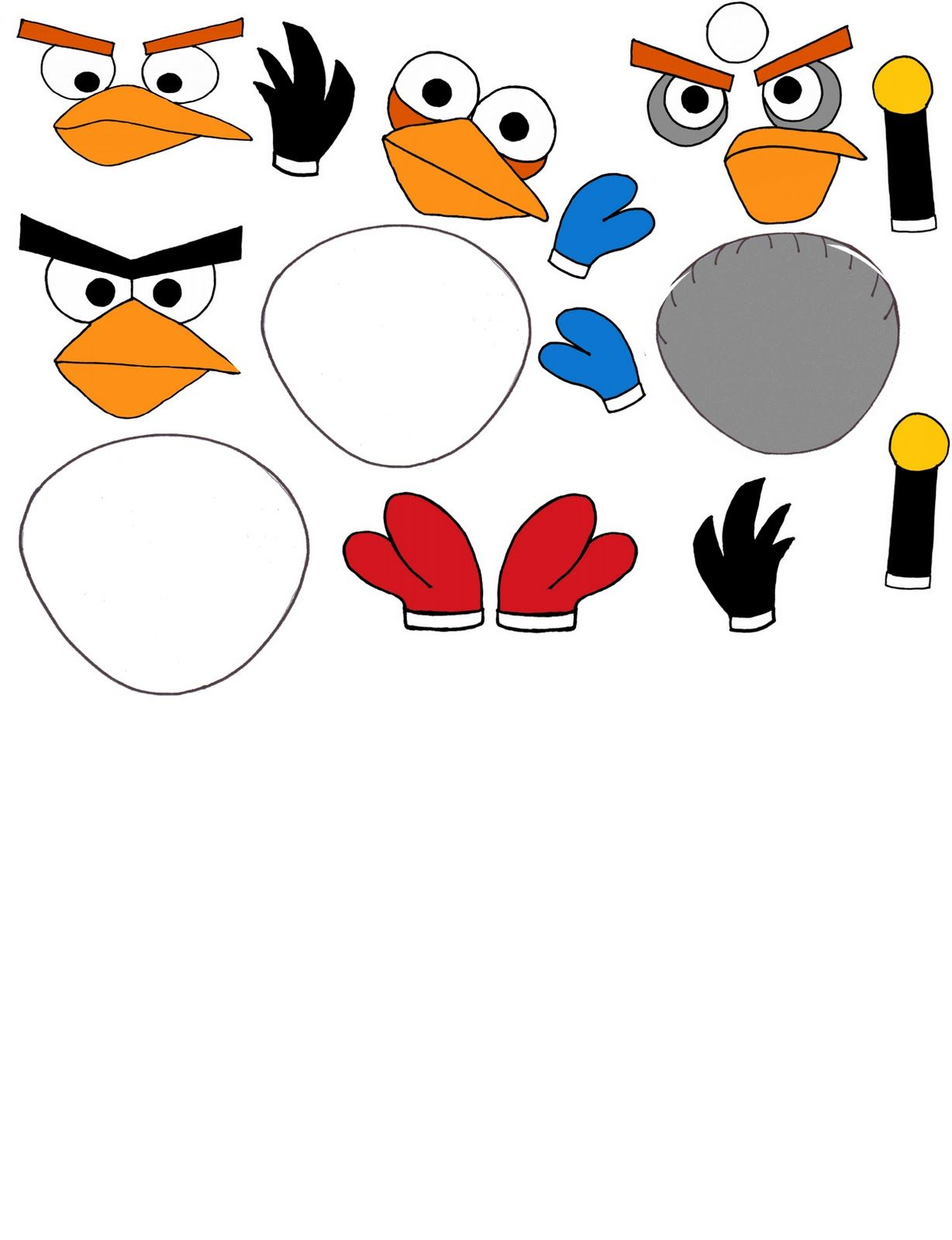 Angry Birds Template Cut Outs