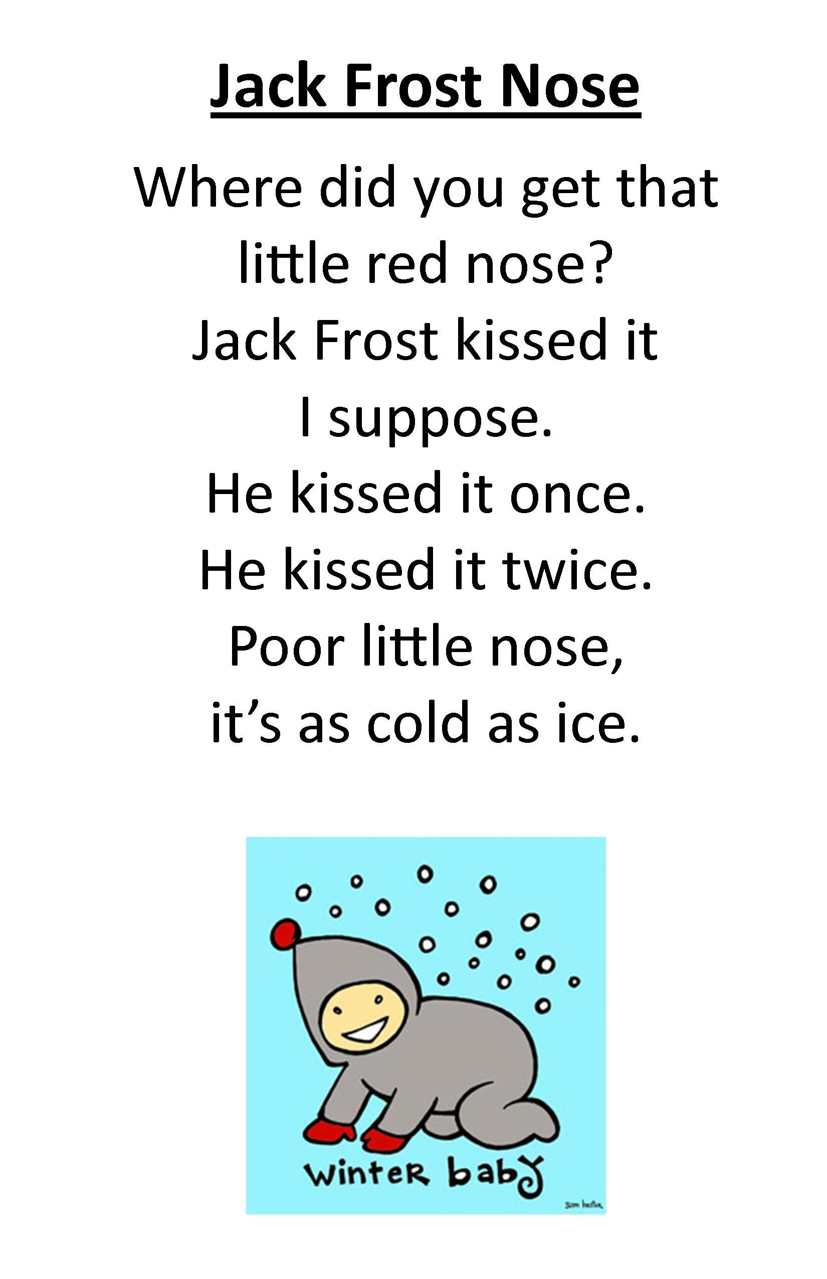 Itty Bitty Rhyme Jack Frost Nose