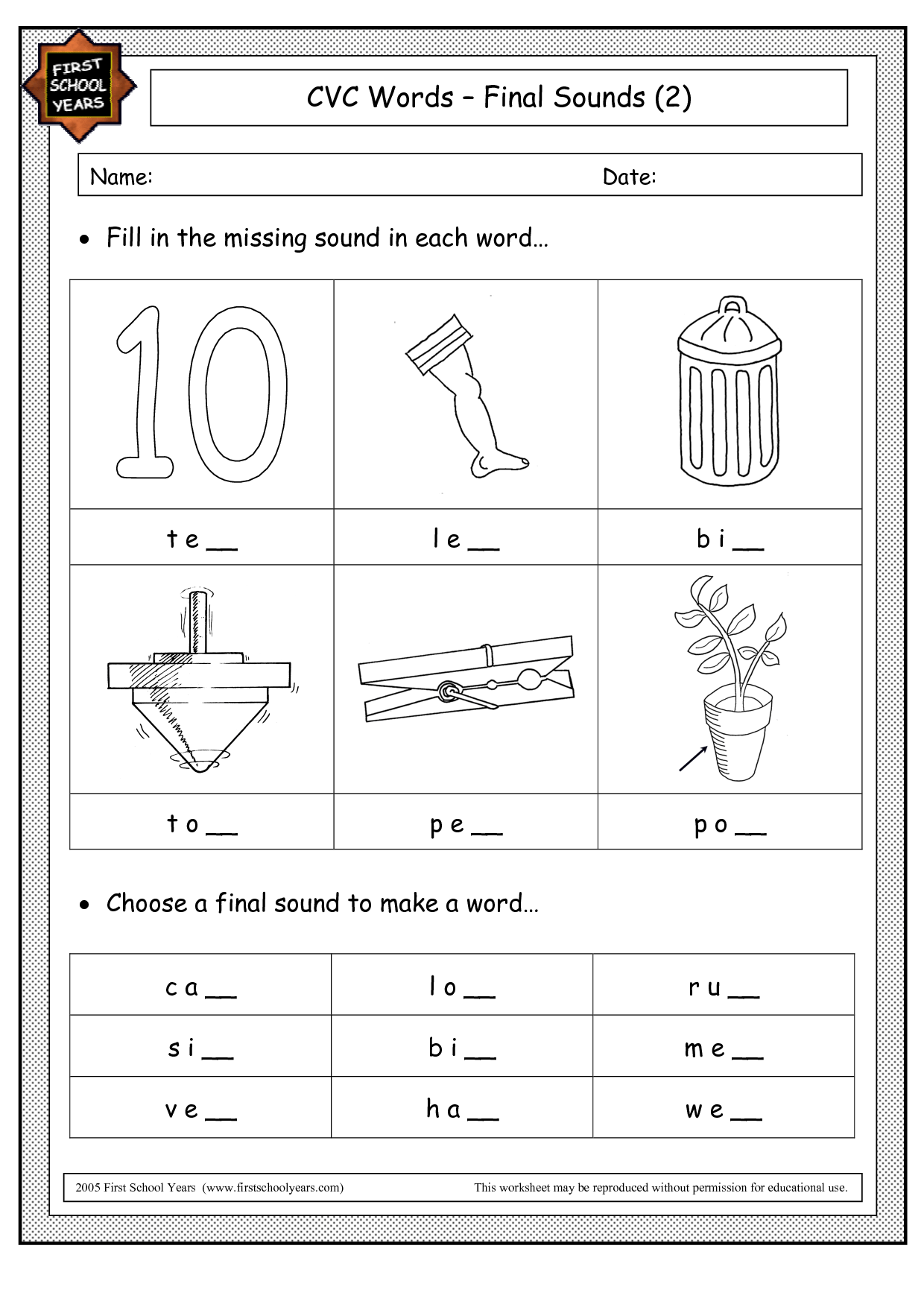 Missing Sounds Worksheets For Kindergarten Missing Best