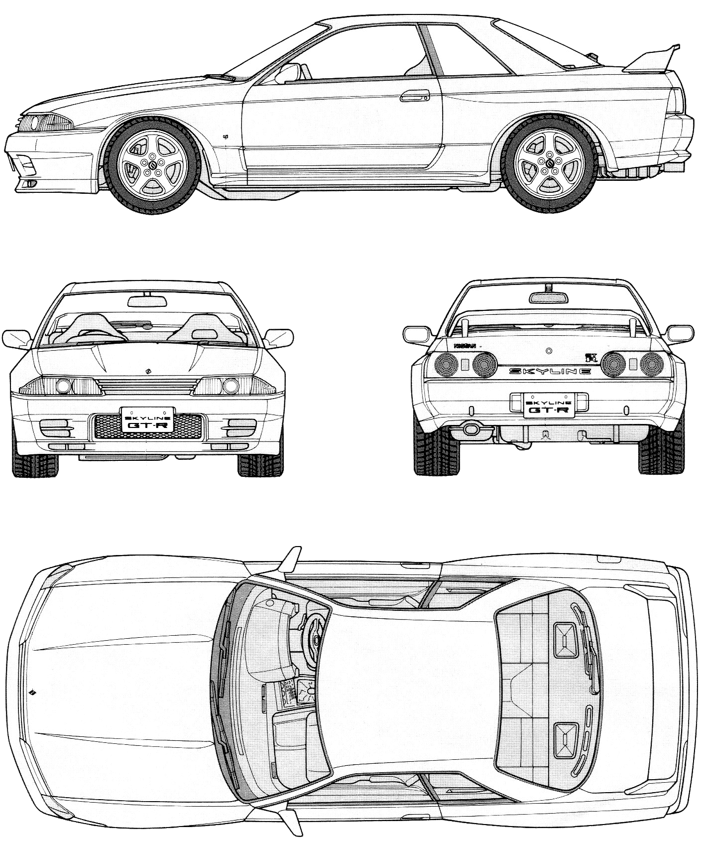 R32 Skyline Gt R Blueprints