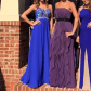 Formal long beaded evening gownprom dress military the oujays