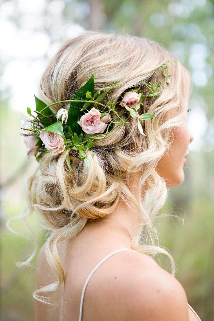 Romantic Woodland Wedding Inspiration Romantic wedding hair