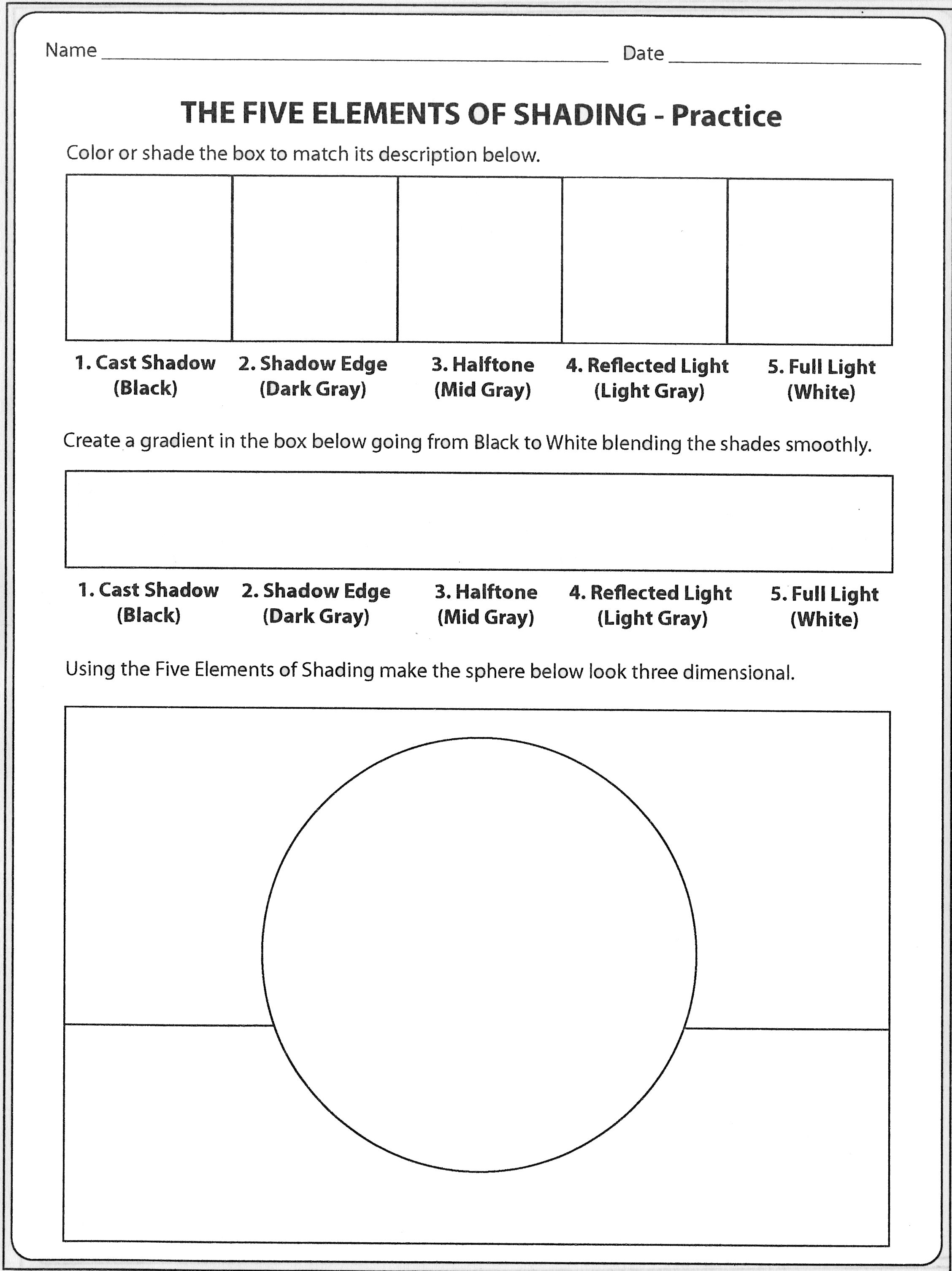 High School Art Worksheets Pinterest