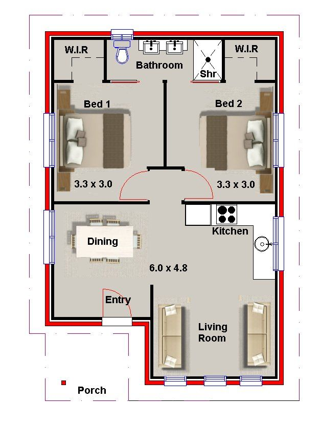 2 Bedroom Small House Plans And Granny Flats