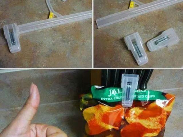 Image result for hanger clips for chips bag