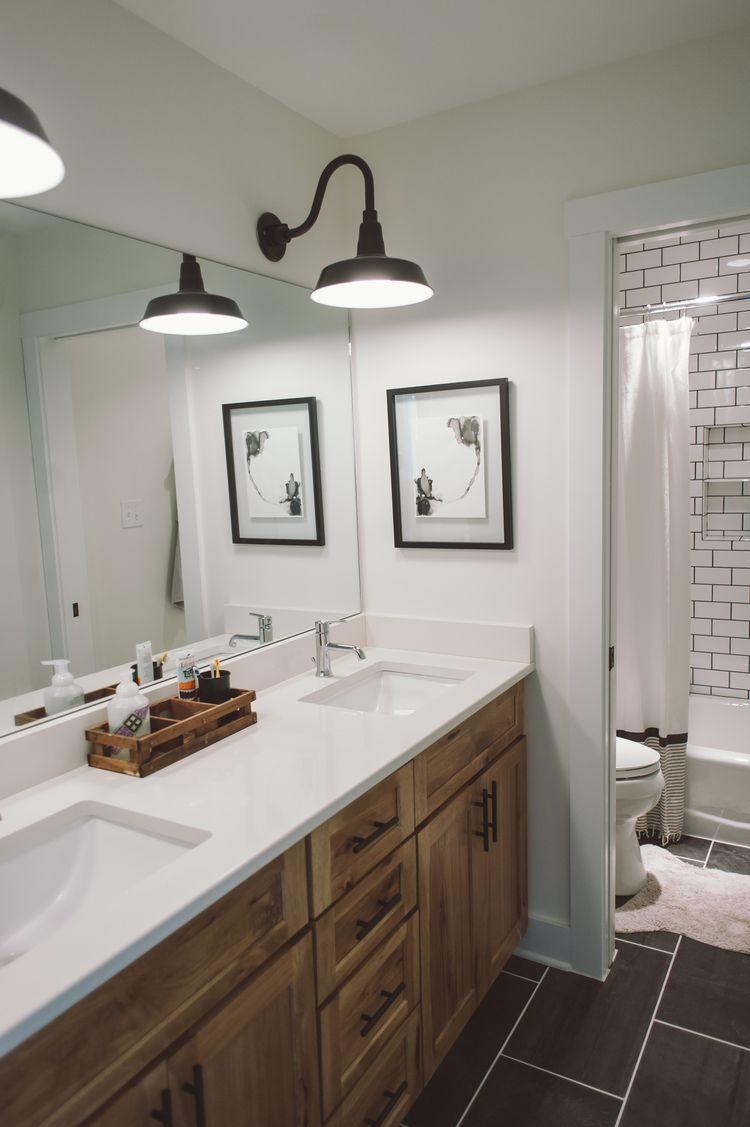 kids bathroom   Kid bathrooms, Rustic farmhouse and Subway ... on Rustic Farmhouse Bathroom Tile  id=25316