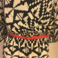 Black and white dress red belt everly dresses and customer support
