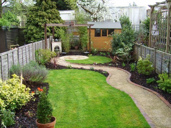 small garden ideas pinterest Small garden that was also a long thin garden   Tuin