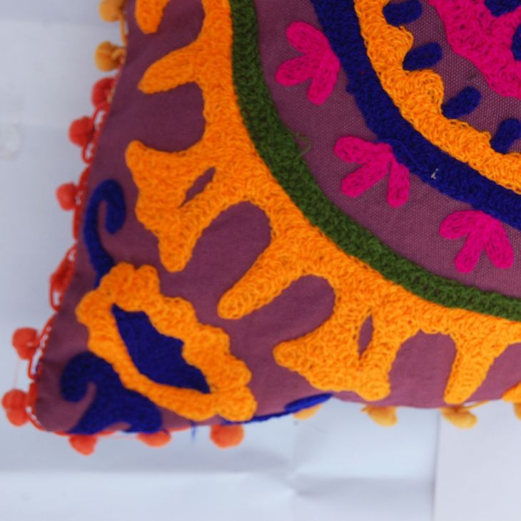 Handmade Woolen Embroidery Indian Pillow Cases Suzani Cushion Covers