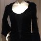 Nwot beautiful black velvet bell sleeve dress black velvet