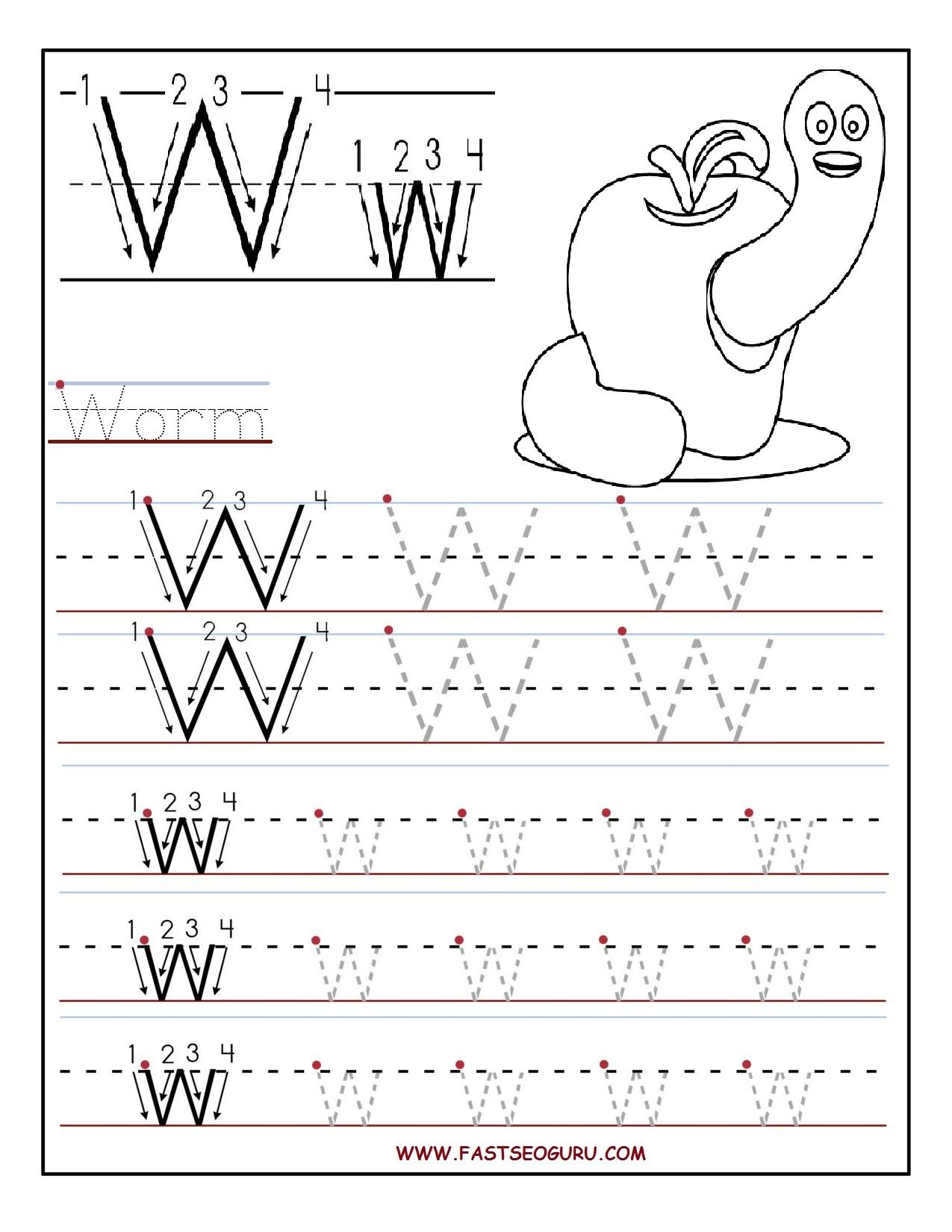 Fun Letter Tracing Worksheet