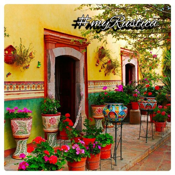 Rustic home furnishings and Mexican garden decorations by ... on Mexican Backyard Decor id=95868