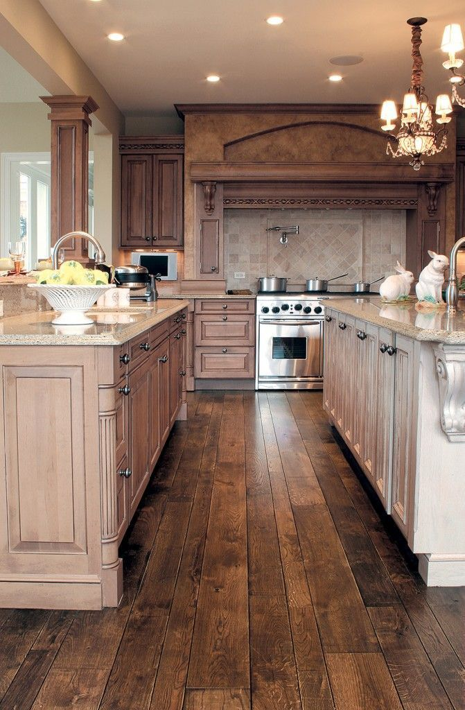 30 stunning kitchen designs smooth face oak hardwood flooring and french oak on kitchen flooring ideas id=70800