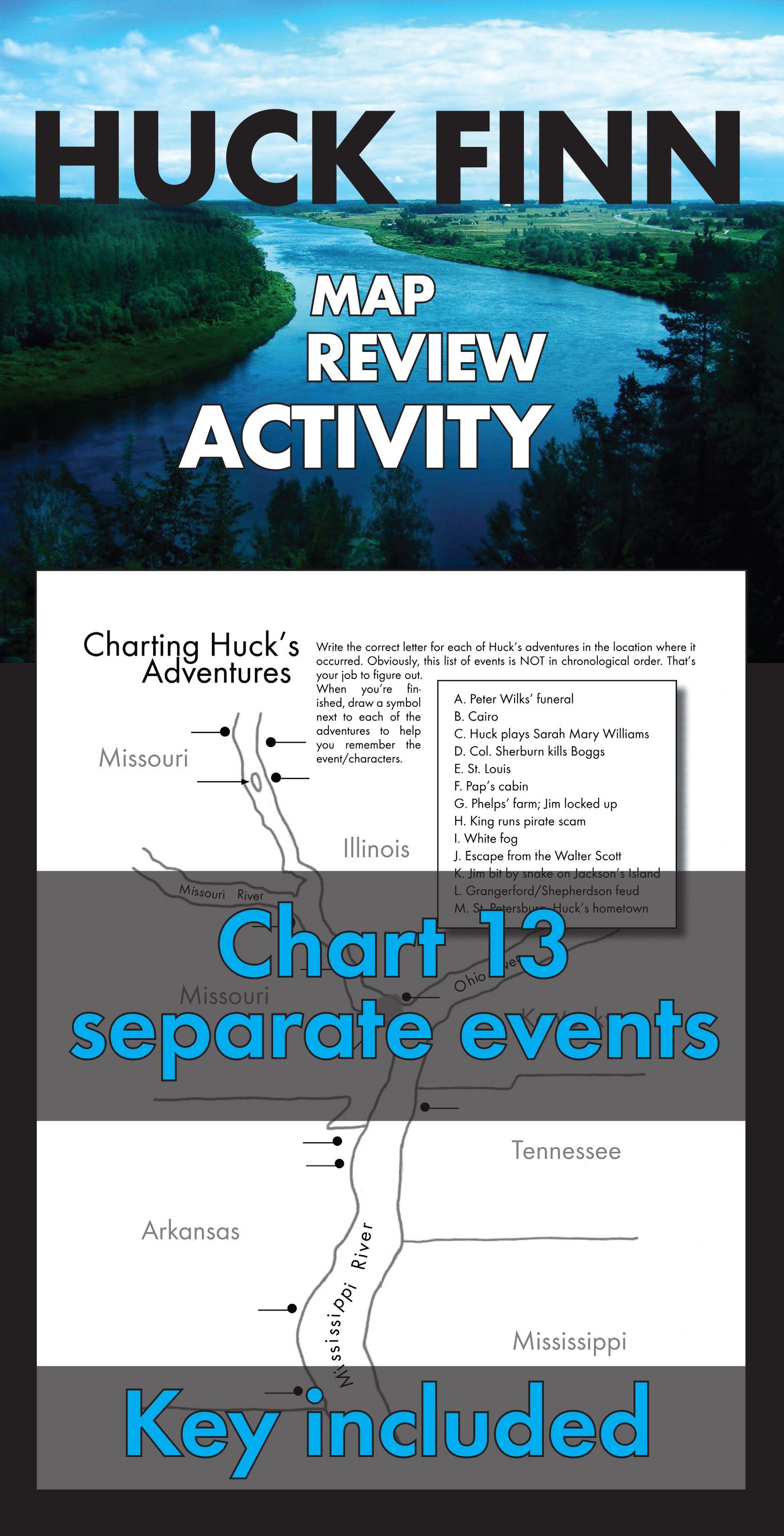 Huckleberry Finn Review Activity Chart Huck Finn S