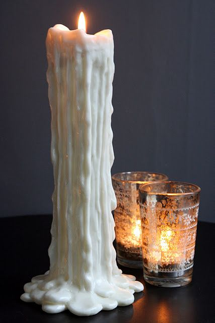 Melted Wax Candle Stick By Rocket St George Available