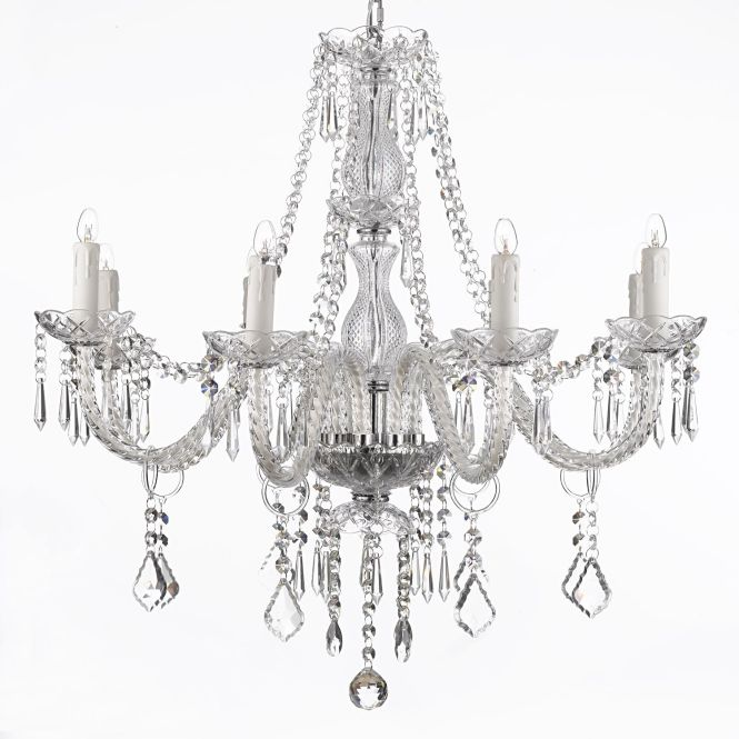 Crystal Chandelier Lighting 8 Light Fixture