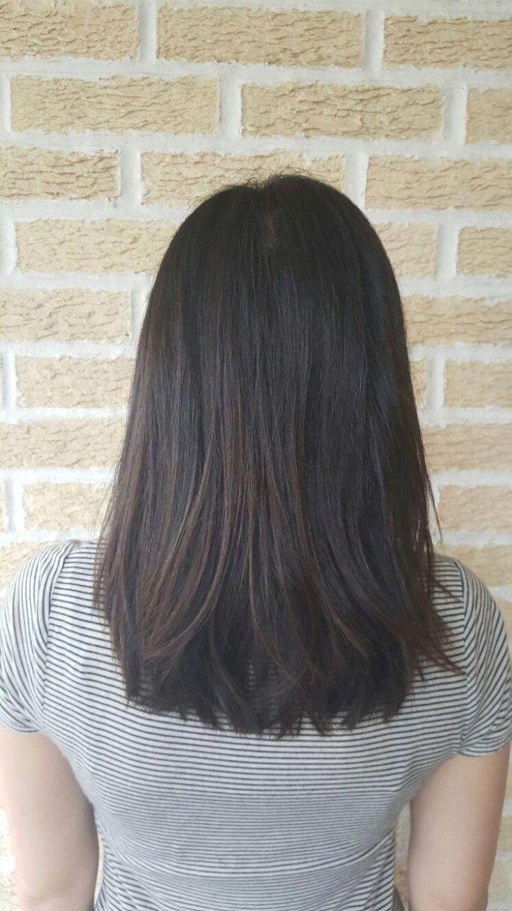 Medium length haircut u hairstyle cut style lob long bob