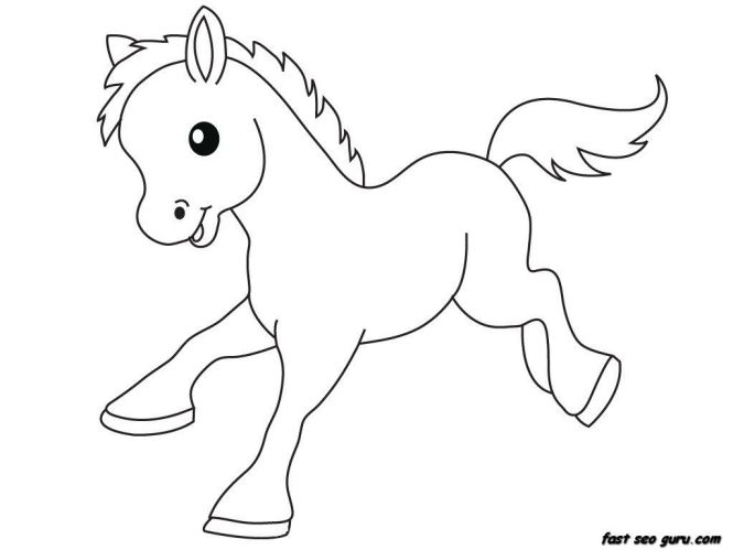 Baby Horse Coloring Pages To Print | Coloring Page for kids