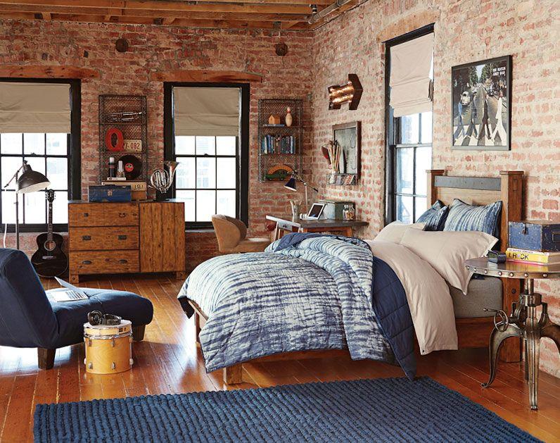 Teenage Guys Bedroom Ideas   Industrial Style   PBteen ... on Teenager:_L_Breseofm= Bedroom Ideas  id=95786
