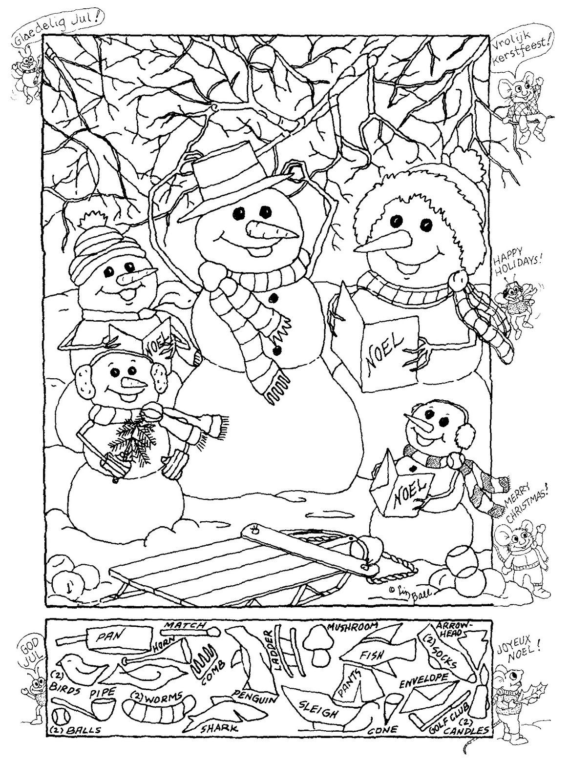 Hidden Pictures Publishing Snowman Hidden Picture Puzzle