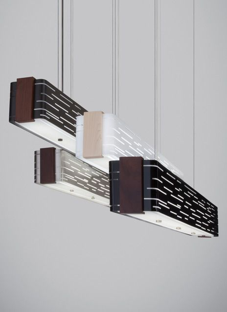 This Dramatic Linear Suspension Fixture Captures Light In Motion Option For Billiard Table Lighting Chandelier