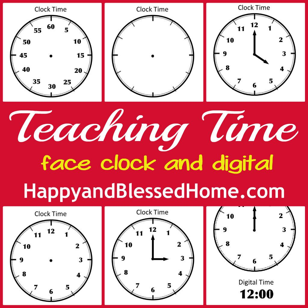 Tell Time Preschool Learning