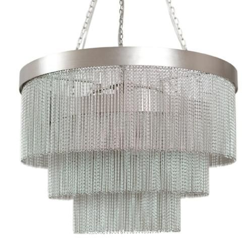 Large Silver Chain Chandelier
