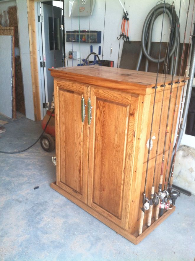 Fishing rod storage and woodworking pinterest