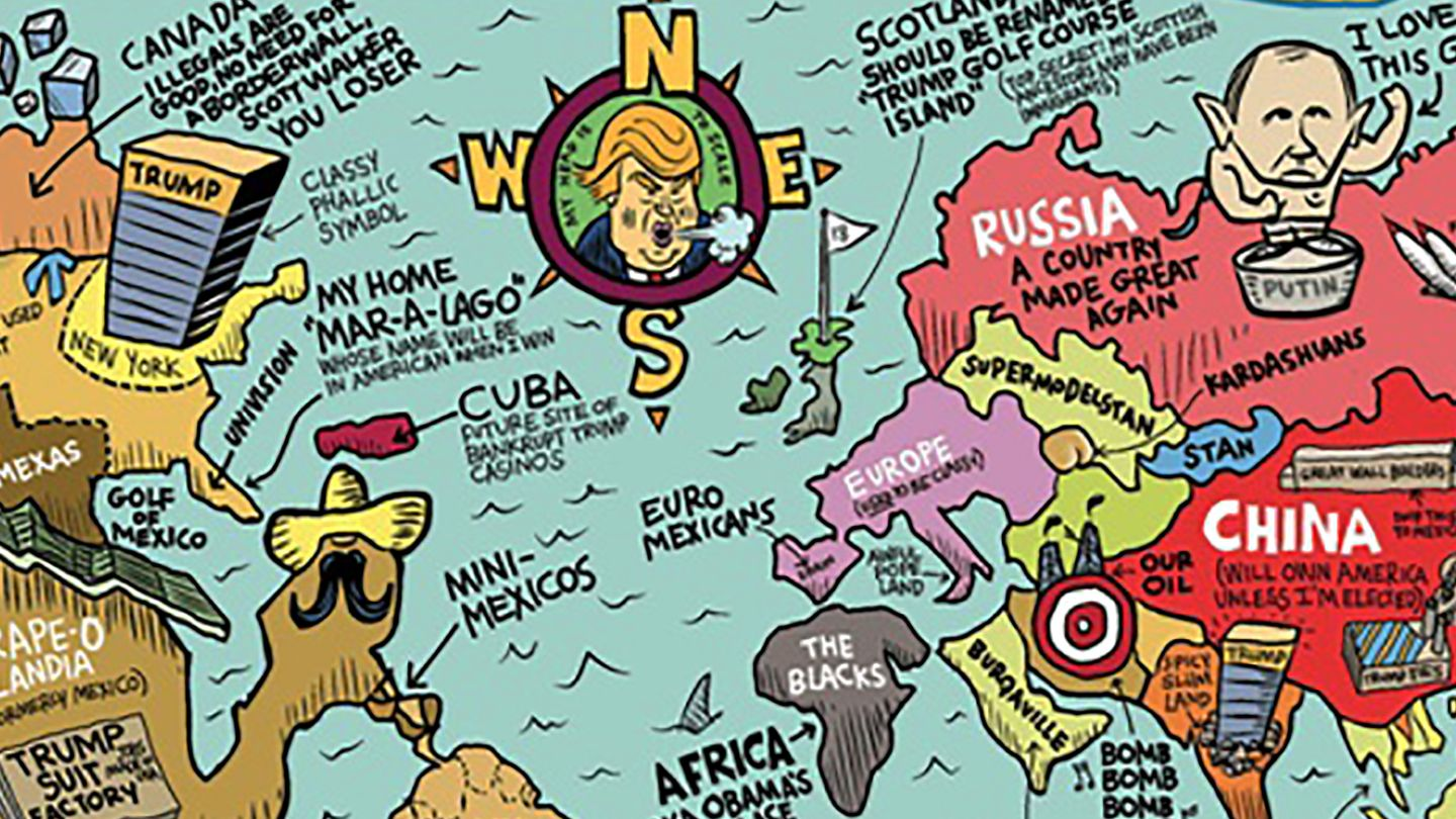 How Donald Trump Sees The World In 3 Maps