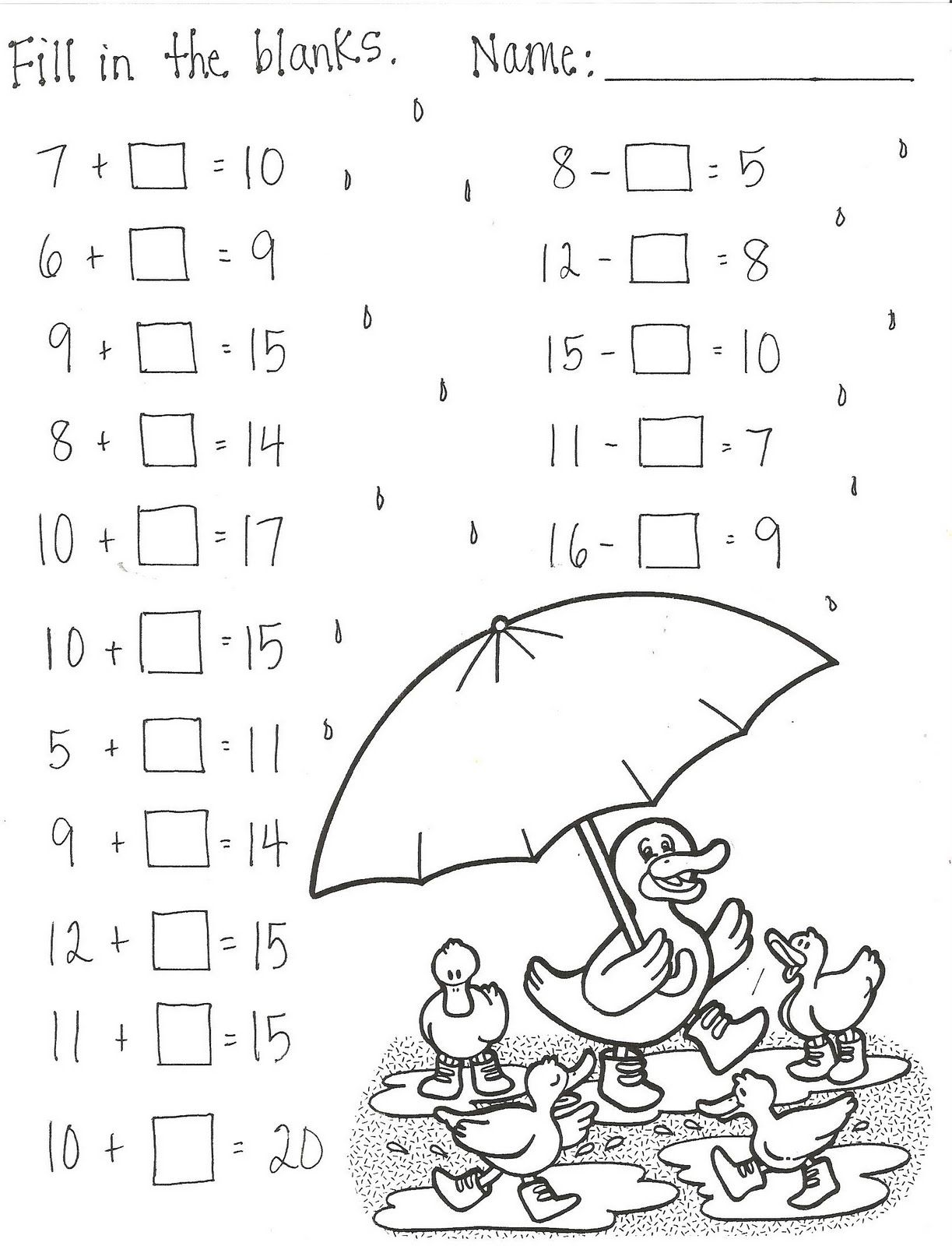 Math Addition And Subtraction Worksheet For 3rd Grade