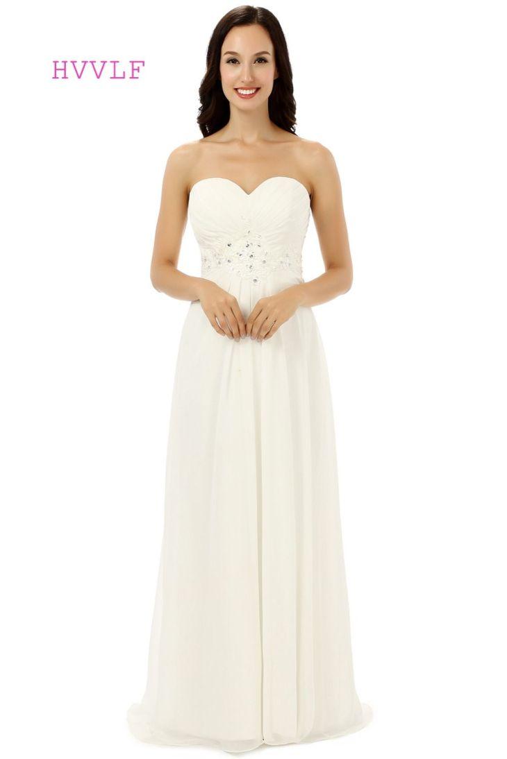 Click to Buy ucuc Vestido De Noiva  Beach Wedding Dresses Aline