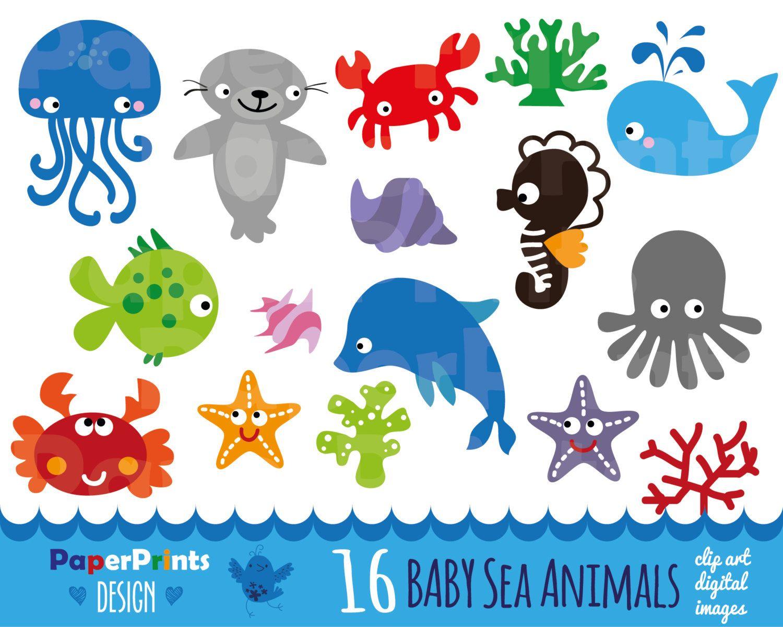 Clipart Baby Sea Animals Sea Animals Clipart Clipart Sea