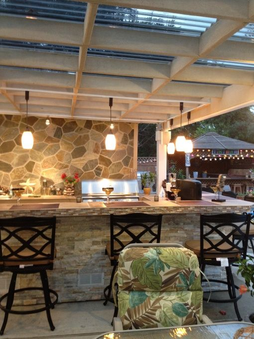 the patio cover was built using mostly 2x6 s and suntuf on awesome deck patio outdoor lighting ideas that lighten up your space id=75730