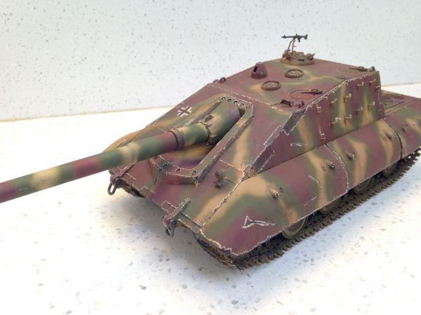 Built 1/35 Jagdpanzer E100 Tank Destroyer With 170mm Gun ...