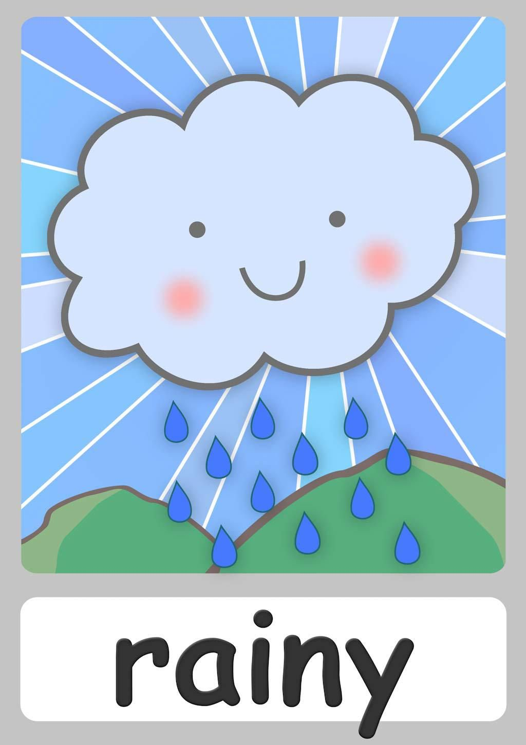 Free Weather Flashcards For Kindergarten Teach Weather