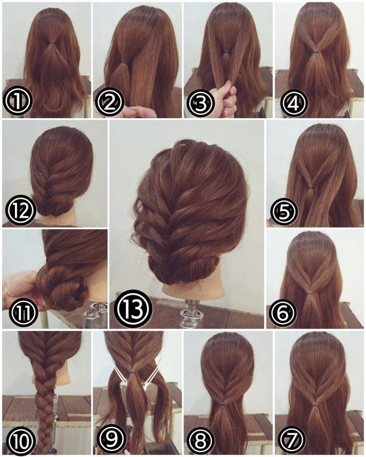 Zopf Hochsteckfrisur lange Haare Greñitas Pinterest Updo