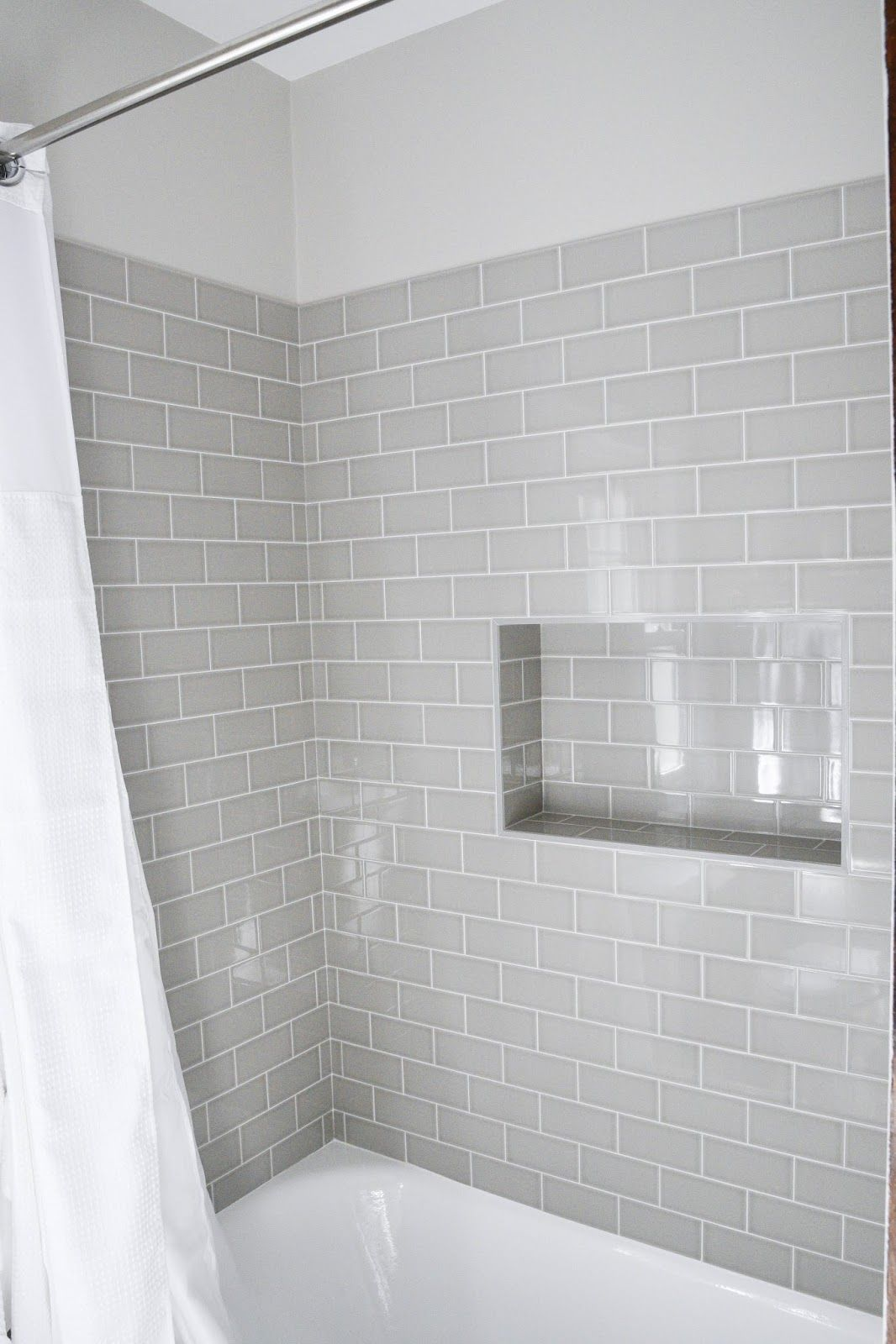 Modern Meets Traditional Styled Bathroom Subway Tile