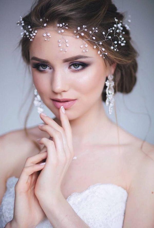 cool Красивые свадебные прически на средние волосы (50 ...