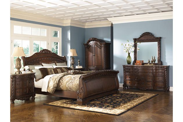 The Ashley HomeStore North Shore bedroom  A grand   elegant     Shop for north shore sleigh bedroom set with Bedroom Furniture Discounts   Our north shore bedroom set is available in different sizes  includes  headboard