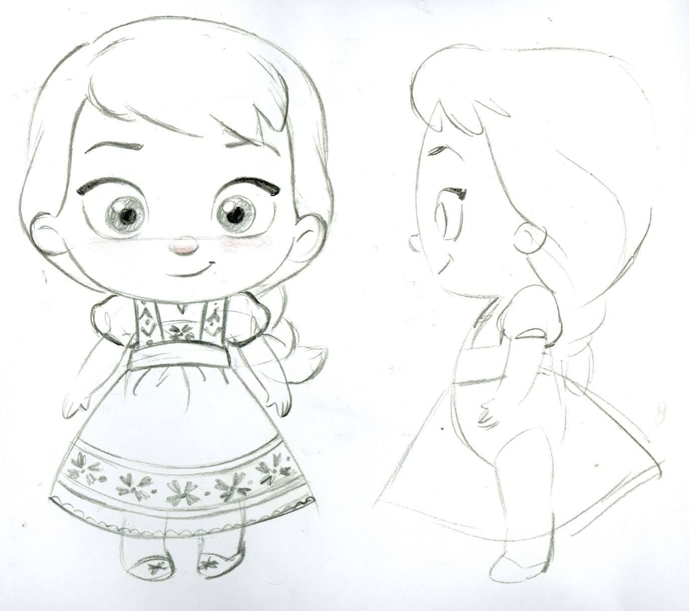 Sketches Of Steve S Anna And Elsa Toddler Plush For The