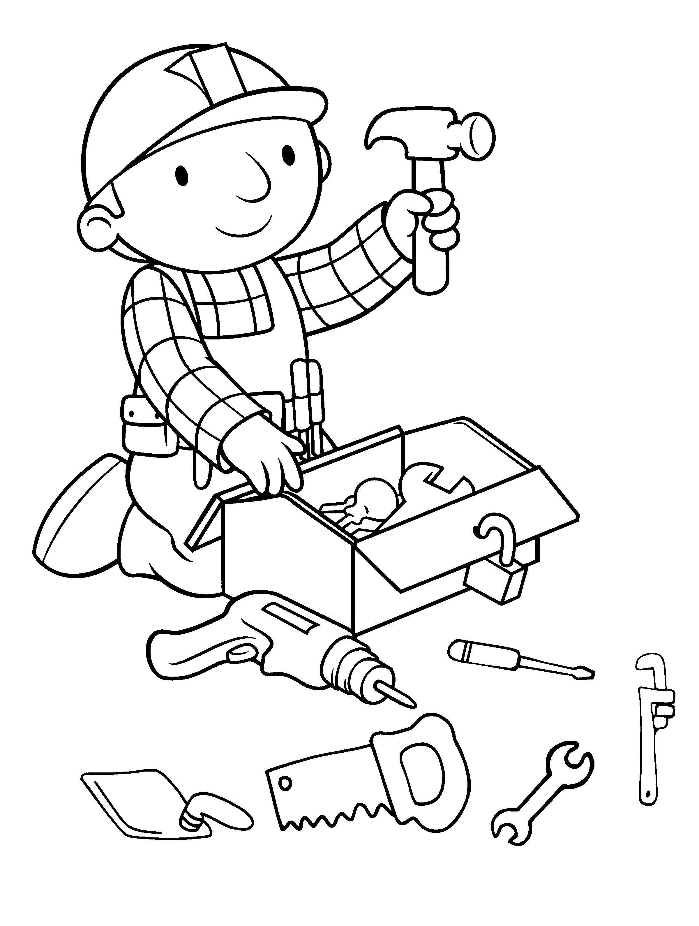 Free Bob The Builder Coloring Pages With Bob The Builder