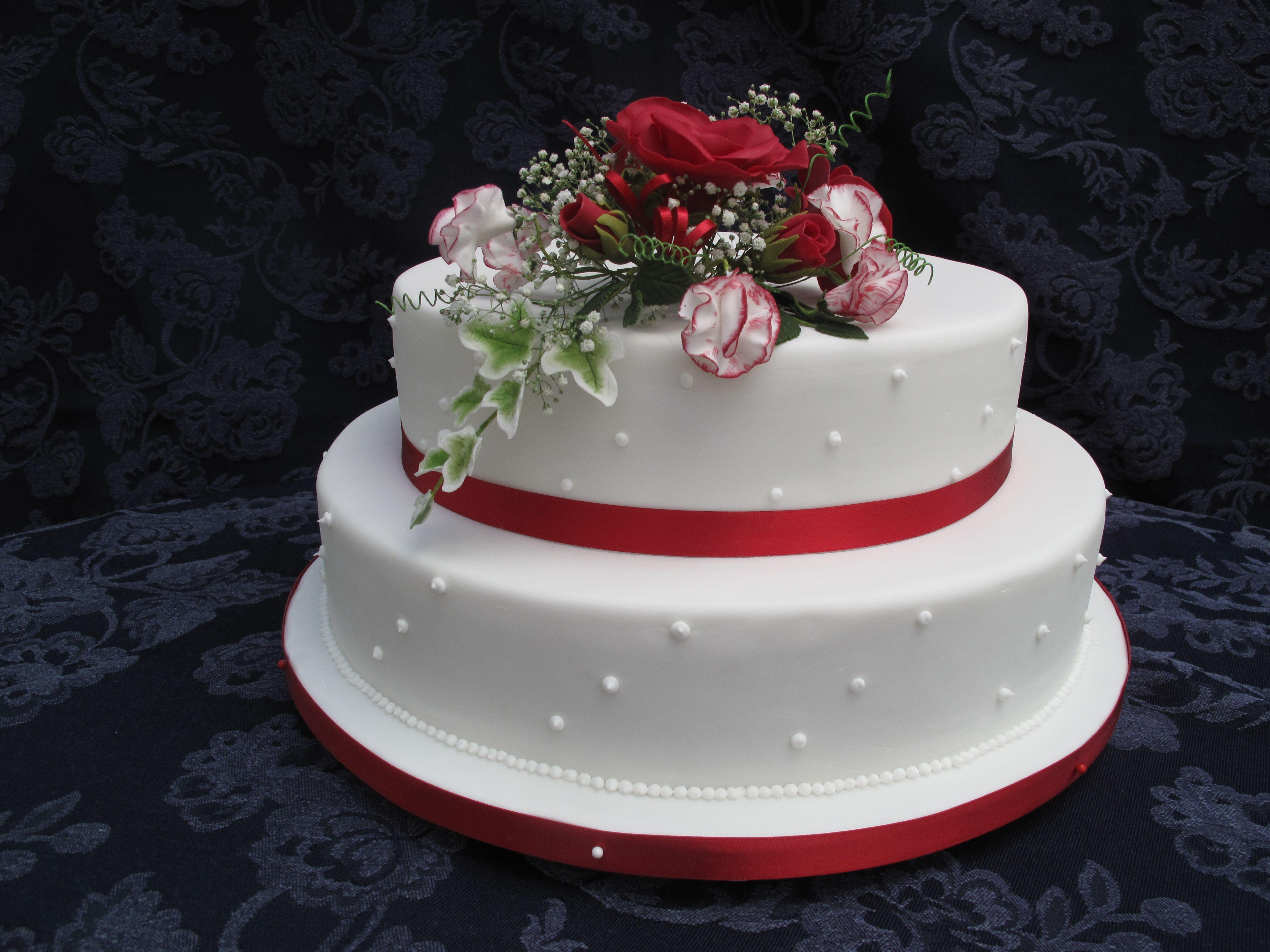 Ruby Wedding Cake