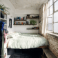 Loft bedroom style  Iud take a room that small if I got a fantastic view out that window