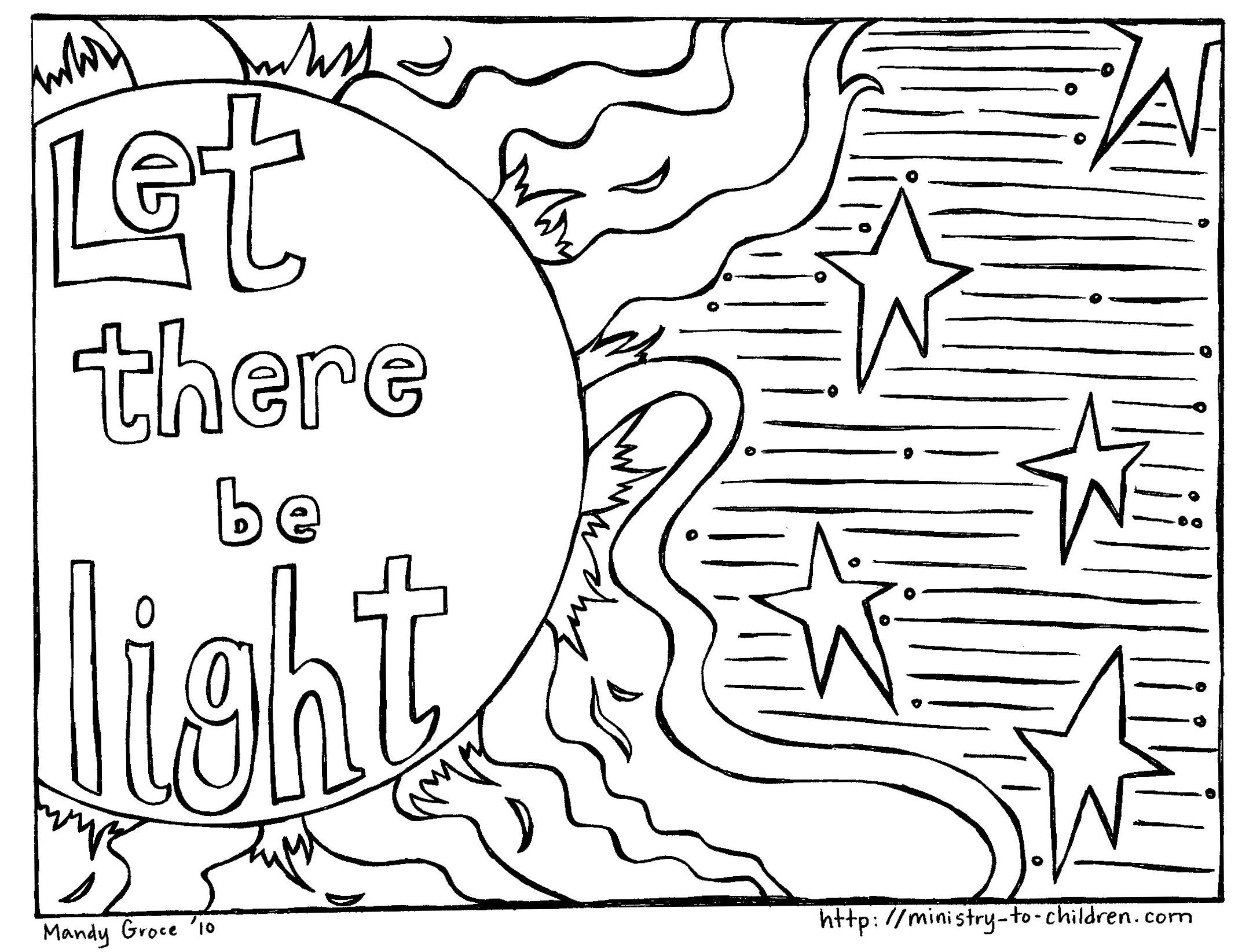 Creation Coloring Pages For Toddlers