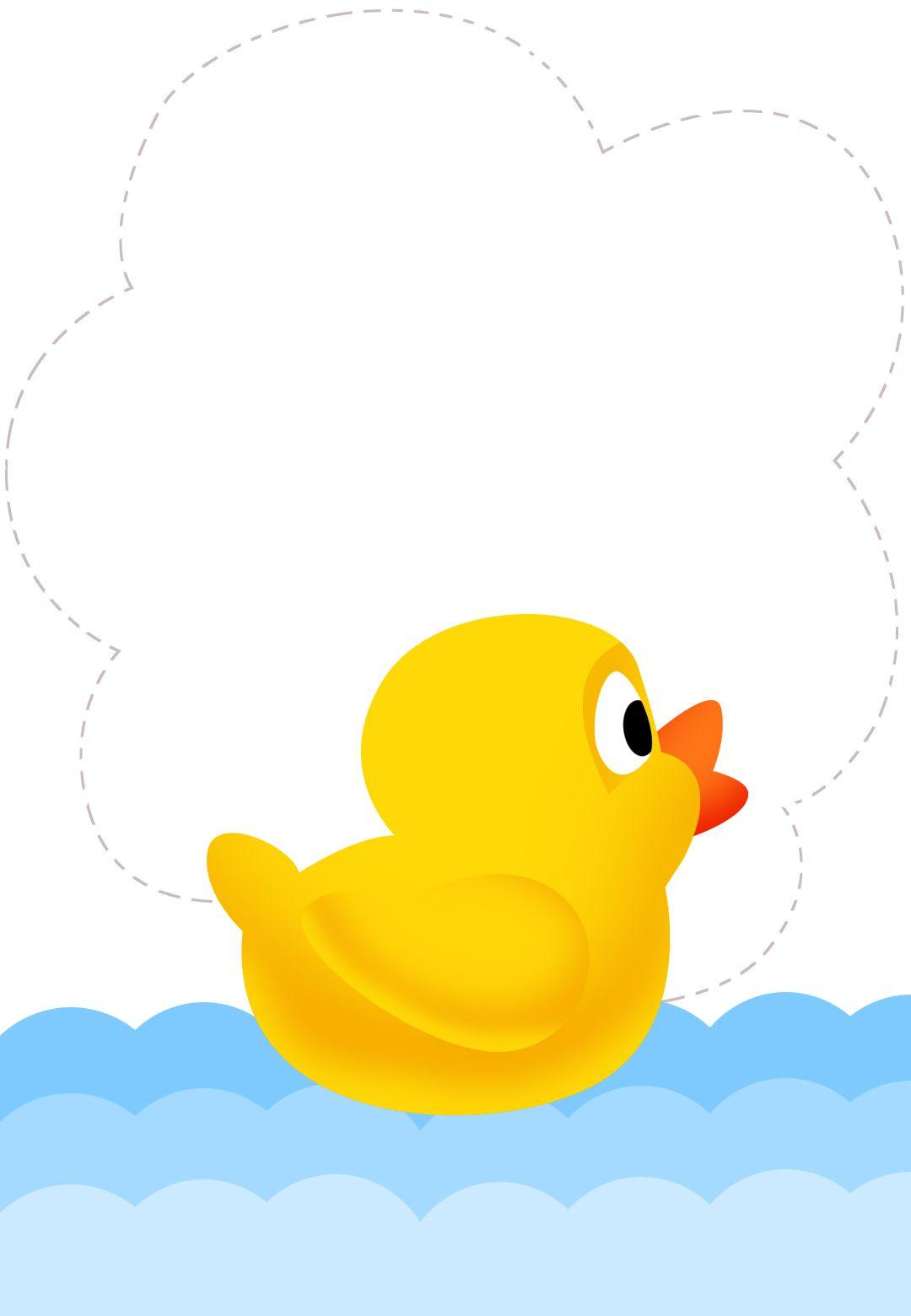 Free Printable Duck New Baby Invitation